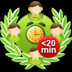 4-Spieler-Onlinespiel in 20 Minuten gewonnen