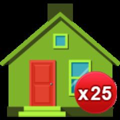 25 Häuser gebaut