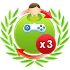 3 Einzelspiele gegen schwere Computergegner am Stück gewonnen
