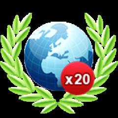 20 Onlinespiele gewonnen