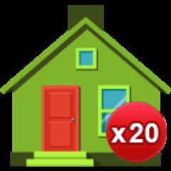 20 Häuser gebaut