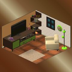 Endlich, eine Couch und ein Fernseher!