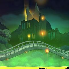 Die Brücke über den Säurefluss