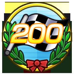 200 Zielflaggen