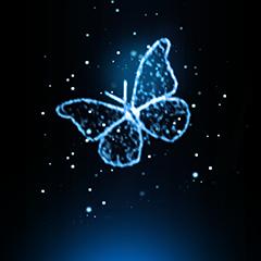 Blauer Schmetterling